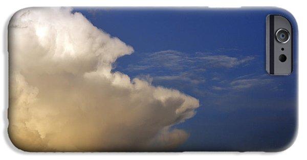 Thunderhead iPhone Cases - Thunderhead and Moon iPhone Case by Thomas R Fletcher