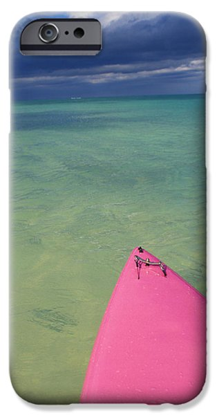 Tip Of Pink Kayak iPhone Case by David Cornwell/First Light Pictures, Inc - Printscapes