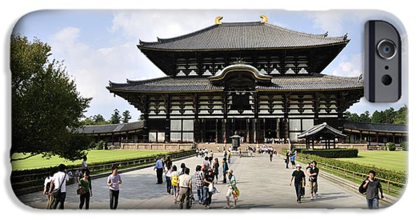 Nara iPhone Cases - Todaiji Temple iPhone Case by Andy Smy