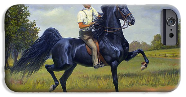 American Saddlebred iPhone Cases - Tom Bass and Rex McDonald iPhone Case by Jeanne Newton Schoborg