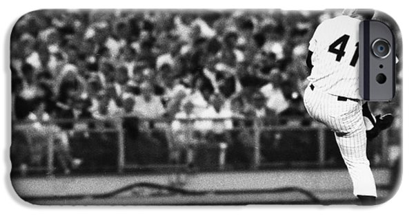 Chicago Cubs iPhone Cases - Tom Seaver (1944- ) iPhone Case by Granger