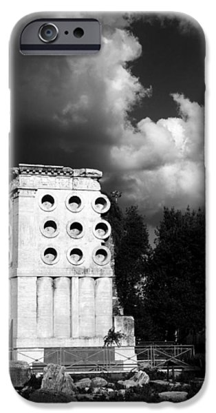 Tomb iPhone Cases - Tomb of Eurysaces the Baker iPhone Case by Fabrizio Troiani