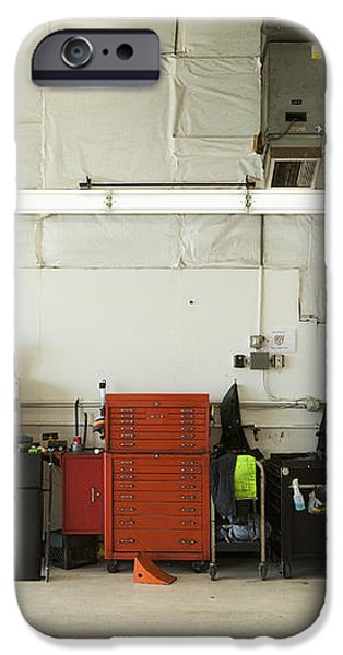 Tool Chests In An Automobile Repair Shop iPhone Case by Don Mason