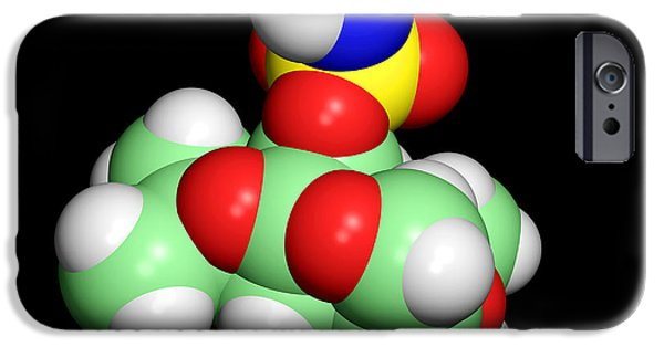Disorder iPhone Cases - Topiramate Molecule, Anti-epilepsy Drug iPhone Case by Dr Tim Evans
