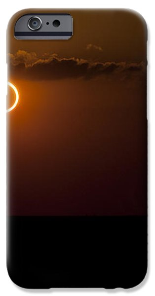 Totality During Annular Solar Eclipse iPhone Case by Phillip Jones