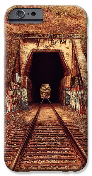 Train Tunnel At The Muir Trestle in Martinez California . 7D10220 iPhone Case by Wingsdomain Art and Photography