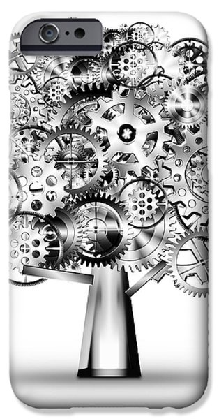 tree of industrial iPhone Case by Setsiri Silapasuwanchai