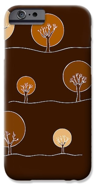 Trees Drawings iPhone Cases - Trees iPhone Case by Frank Tschakert