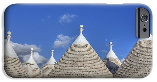 Culture iPhone Cases - Trulli of Apulia iPhone Case by Joana Kruse