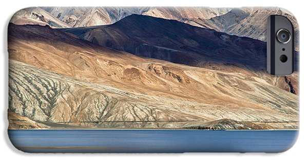 Lakescape iPhone Cases - Shadow Tso Moriri iPhone Case by Hitendra SINKAR