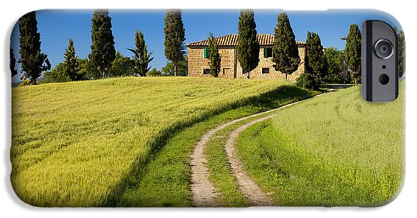 Tuscan Road iPhone Cases - Tuscany Villa iPhone Case by Brian Jannsen