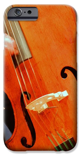 Upright Bass iPhone Cases - Upright Bass 2 iPhone Case by Anita Burgermeister