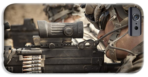 Fed iPhone Cases - U.s. Army Rangers In Afghanistan Combat iPhone Case by Tom Weber