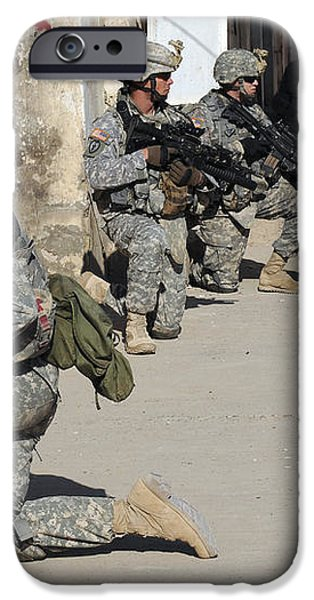 U.s. Army Soldiers Providing Security iPhone Case by Stocktrek Images