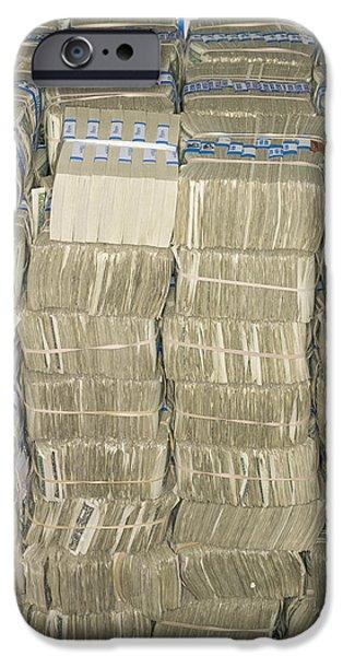 US Cash Bundles iPhone Case by Adam Crowley