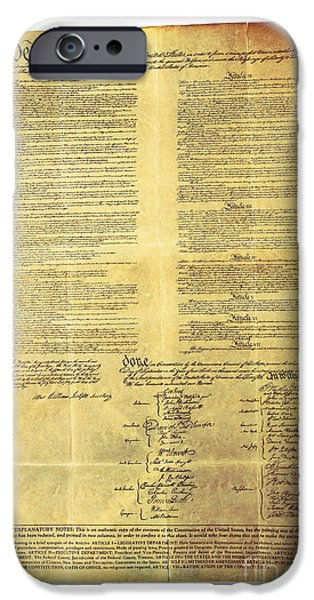 Science Collection - iPhone Cases - U.s Constitution iPhone Case by Photo Researchers, Inc.