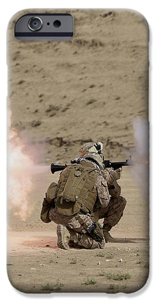 U.s. Marine Fires A Rpg-7 Grenade iPhone Case by Terry Moore