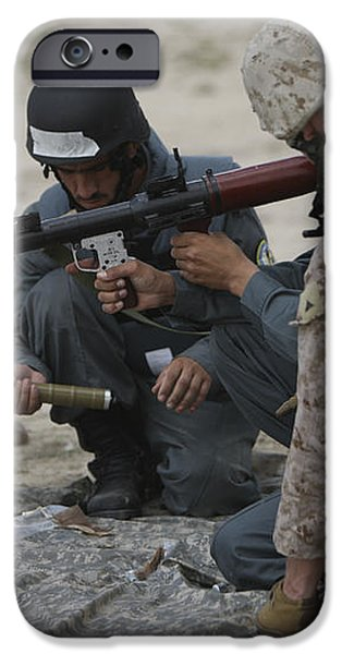 U.s. Marine Watches An Afghan Police iPhone Case by Terry Moore