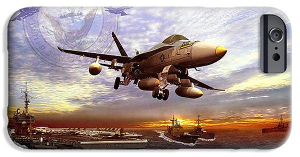F-18 iPhone Cases - U.S. Navy iPhone Case by Kurt Miller