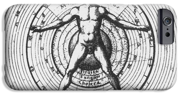 Macrocosm iPhone Cases - Utrisque Cosmi, Title Page, 1617 iPhone Case by Science Source