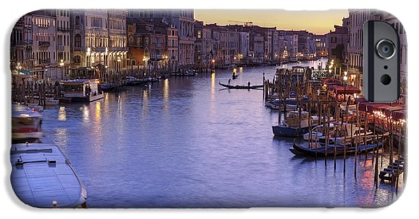 Boat iPhone Cases - Venice Canal Grande iPhone Case by Joana Kruse