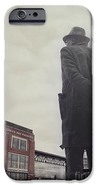 Bay Photographs iPhone Cases - Vince Lombardi iPhone Case by Joel Witmeyer