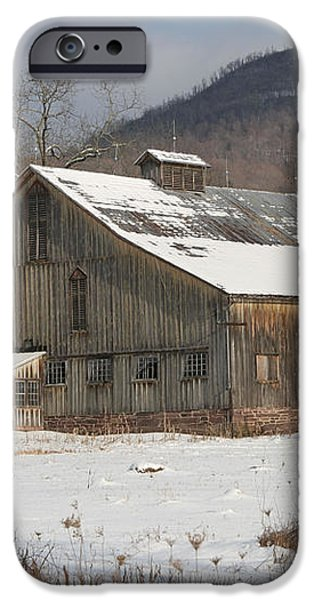 Vintage Weathered Wooden Barn iPhone Case by John Stephens