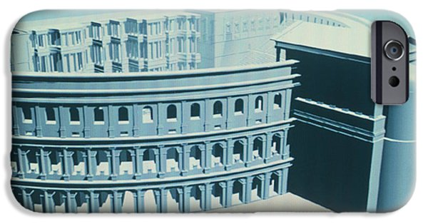 Virtual Photographs iPhone Cases - Virtual Reality Model Of The Theatre Of Pompey iPhone Case by Theatronvolker Steger