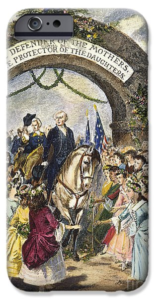 Inauguration iPhone Cases - Washington: Trenton, 1789 iPhone Case by Granger