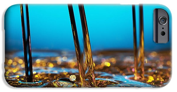 Impacting iPhone Cases - Water And Oil iPhone Case by Setsiri Silapasuwanchai
