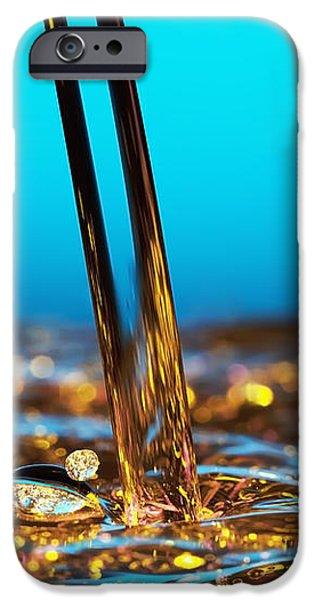 water and oil iPhone Case by Setsiri Silapasuwanchai