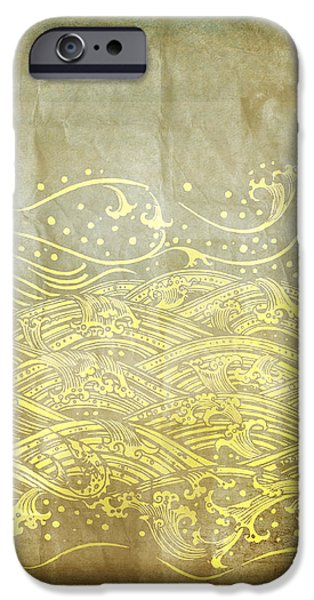 Torn iPhone Cases - Water Pattern On Old Paper iPhone Case by Setsiri Silapasuwanchai