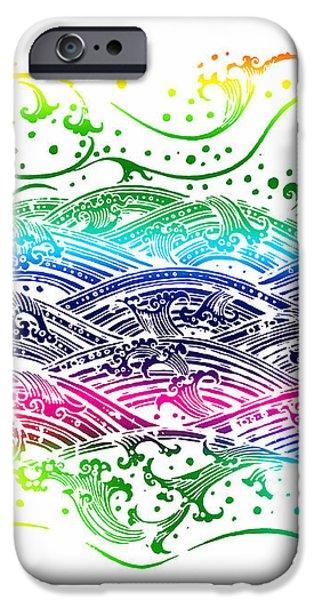 water pattern iPhone Case by Setsiri Silapasuwanchai