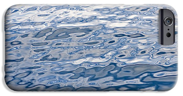 Ripple iPhone Cases - Water surface iPhone Case by Elena Elisseeva