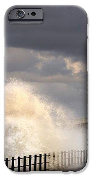 Waves Crashing, Sunderland, Tyne And iPhone Case by John Short