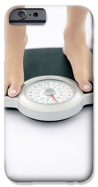 Eating Disorders iPhone Cases - Weight Measurement iPhone Case by Gavin Kingcome