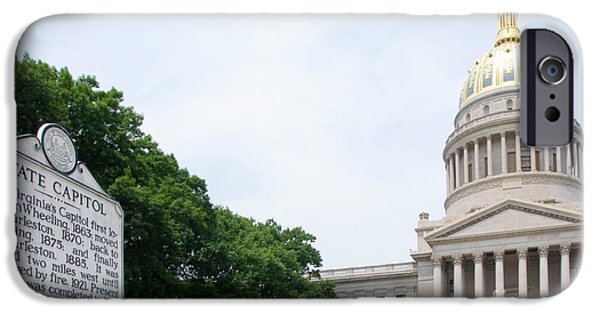 Of Power iPhone Cases - West Virginia State Capitol iPhone Case by Thomas R Fletcher