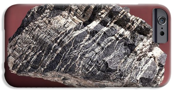 Fibrous Crystals iPhone Cases - White Asbestos iPhone Case by Dirk Wiersma