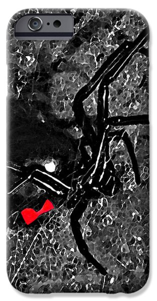 Wicked Widow - Selective Color iPhone Case by Al Powell Photography USA
