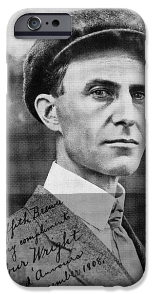 Wilbur Wright, Us Aviation Pioneer iPhone Case by Science, Industry & Business Librarynew York Public Library