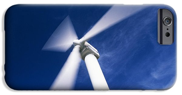Energy Industry iPhone Cases - Wind Turbine iPhone Case by Jeremy Walker