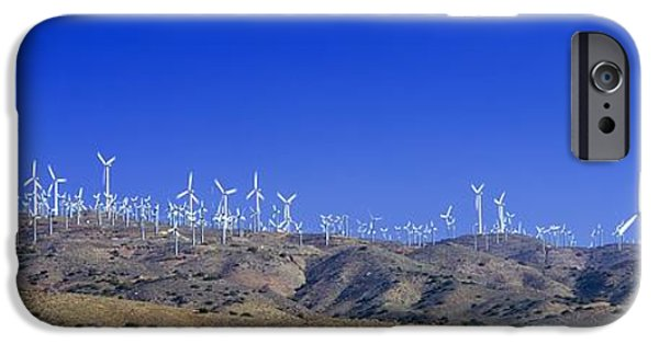 Electrical iPhone Cases - Wind Turbines, California, Usa iPhone Case by David Nunuk