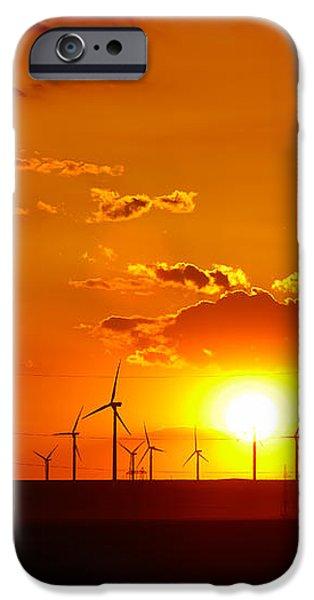 Wind turbines iPhone Case by Gabriela Insuratelu