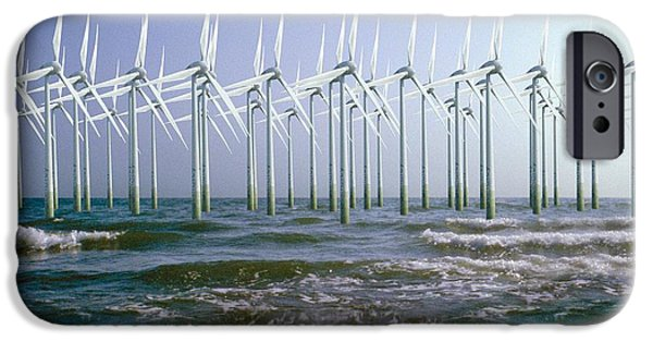 Energy Industry iPhone Cases - Wind Turbines iPhone Case by Victor De Schwanberg