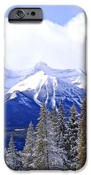 Skiing iPhone Cases - Winter mountains iPhone Case by Elena Elisseeva