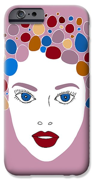 Abstract Fashion Art iPhone Cases - Woman in Fashion iPhone Case by Frank Tschakert