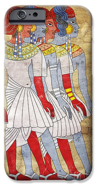 Antiques iPhone Cases - Women of Ancient Egypt iPhone Case by Michal Boubin