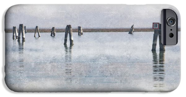 Piles iPhone Cases - wood piles in the lagoon of Venice iPhone Case by Joana Kruse