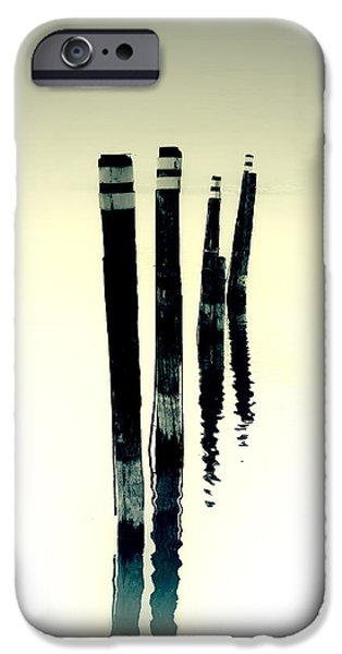 Piles iPhone Cases - Wooden Piles iPhone Case by Joana Kruse