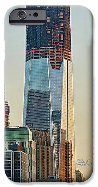 Twin Towers Nyc iPhone Cases - 1 World Trade 030612 iPhone Case by S Paul Sahm